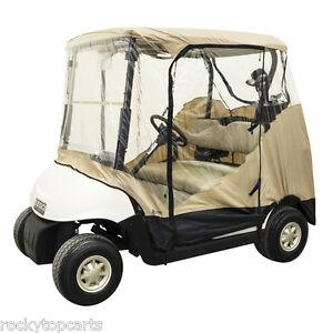 Golf Cart 4 Sided Universal Sand Economy Enclosure Fits Club Car EZGO Yamaha