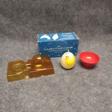 1985 Avon Country Fresh Scent Candle w/ Red Metal Holder New In Original Box