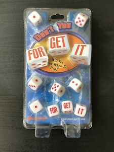 Don't You Forget It Dice Game Pressman For Get It New Sealed