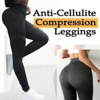 Women Anti-Cellulite Compression Slim Leggings HOT