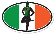 Irish Step Dancer Male Flag Ireland Irish Decal Sticker