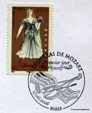 MOZART CLEMENCE TITUS FRANCE Yt 3918 OBLITERATION 1er JOUR  NOTICE PHILATELIQUE