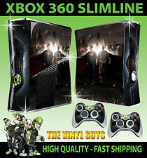 Xbox 360 Slim autocollant batman vs superman héros superhero peau & 2 pad skins