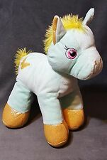 Hugfun Shimmering Sparkly Yellow Green Plush Pony Horse Design on Side 12""