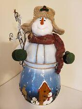 Home Interior Snowman Statue 19.25 inches Tall Decorative Figure