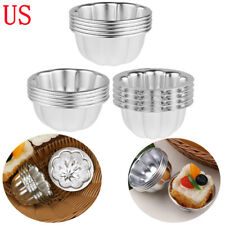 5 Aluminum Flower Cake Egg Tart Tartlets Pan Cup Tin Baking Pastry Mold Tool S-L