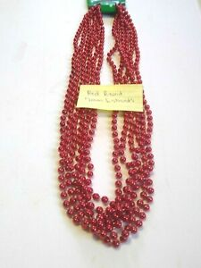 """Mardi Gras Beads 33"""" Strands Parade Party School Themes Assorted Shapes Colors"""