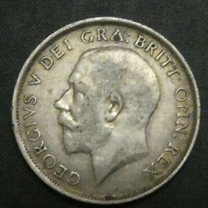 1912 Great Britain Silver Shilling GEORGE V KM# 816