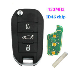 Original For Peugeot 508 Remote key 3 Button 434mhz with ID46 CHIP