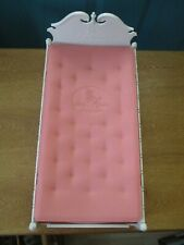 Vintage Susy Goose White Plastic Doll Bed with Pink Plastic Mattress