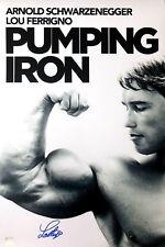 Lou Ferrigno Autographed Schwarzenegger Pumping Iron 16x24 Poster ASI Proof