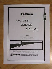 Crosman 160 Factory Service Manual + Exploded View & Parts List