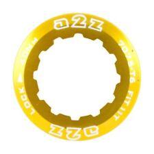 Cassettes y piñones de color oro para bicicletas