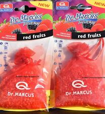 2x RED FRUITS Hanging FRESH BAG Dr.MARCUS CAR Air FRESHENER Rare Smell PERFUME