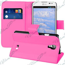 Case Cover Walet Holder Video Leather PINK for LG F70 D315/ LTE