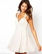 Lipsy Polyester Patternless Midi Dresses for Women