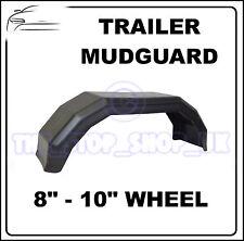 "Black Plastic 8-10"" Wheel Mudguard for Trailer x1 (Small)"