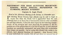 1923 Finch - Climbing Mount Everest 90 Years Ago - Tobacco Theory - Oxygen - 03