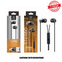 HIGH QUALITY & HIGH BASS WOOX WC 2776 STEREO EARPHONES WITH MIC BLACK