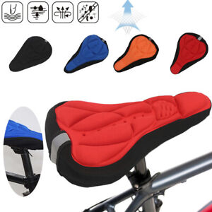 3D Gel Bike Bicycle Silicone Saddle Seat Cover Pad Padded Soft Comfort Cushion