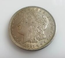 One Dollar E. PLURIBUS UNUM 1921 Morgan USA Silver Coin