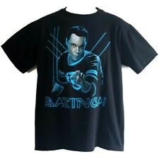 Big Bang Theory T Shirt Graphics Novelty Bazinga Sheldon Black Cotton M