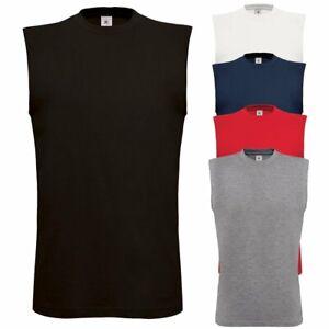 T-Shirt Smanicata Da Lavoro Uomo Maglietta Cotone Senza Maniche B&C Exact Move