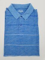 Falls Creek Performance Golf Polo Shirt Mens 2XL XXL Blue Short Sleeve Polyester