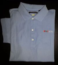 Pall Mall Light Blue Solid M GREG NORMAN Poly Blend Play Dry Golf Polo! s3031