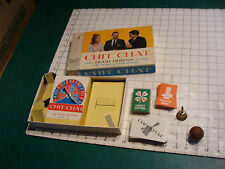 vintage CHIT CHAT GAME w Bell and cards neat.