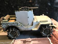 KING AND COUNTRY BBA50- BATTLE OF THE BULGE US ARMOURED JEEP (WINTER VERSION)