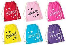 Personalised Glitter Star Gymsac School Swimming PE Bag Printed Customised Name