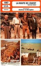 FICHE CINEMA : LA ROUTE DE L'OUEST - Douglas,Mitchum,McLaglen 1967 The Way West