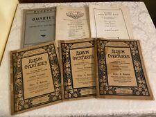 STRING ENSEMBLE  SHEET MUSIC lot of 6 OVERTURES, QUARTET,FOUR VIOLINS