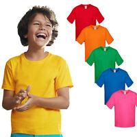 Fruit of the Loom Kinder Kurzarm T-Shirt Kids Shirt Gr. 104 - 164