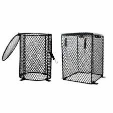 Reptile Med Lamp Guard Mesh Cage Light Bulb Protector Enclosure Heat Black
