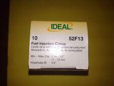 "Ideal Tridon 1/4"" Fuel Injection Hose Clamps-10 Pcs Per Box"