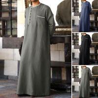 Men's Middle East Thobe Kaftan Islamic Arab Muslim Jubba Arabic Thobe Long Robe