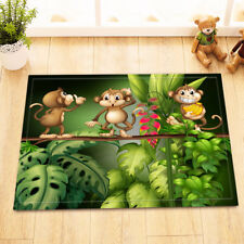 Jungle Cartoon Monkey Shower Mat Home Floor Carpet Non-slip Door Bathroom Rug
