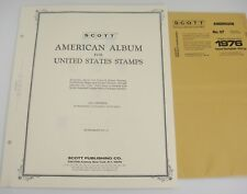 Scott 1976 American Stamp Album Specialty Supplement No 37 for US Stamps NOS