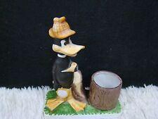 1980 Ceramic Daffy Duck Votive Candleholder Figurine, Collectible Home Decor