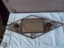 Magnifique miroir art déco en fer forgé miroir biseauté