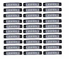 30 Stück x6 LED weiß 24V Leuchte Lampe LKW Begrenzungsleuchte Umrißleuchte Seite