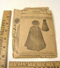 ANTIQUE VICTORIAN EDWARDIAN McCALL BAZAR SEWING PATTERN LADIES CAPE CLOAK