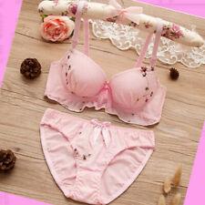 Girls Bra Knickers set 2 pcs Briefs Top Lace Panties Adjustable Age 11-18 years