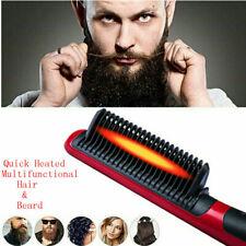 Quick Heated Beard Straightener Brush Multifunctional Hair Comb Curling Show Cap