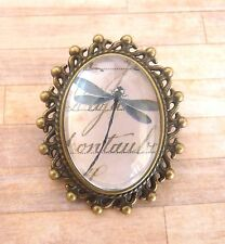 Mother's Day Bronze Plated Vintage Dragonfly Design Brooch New in Gift Bag