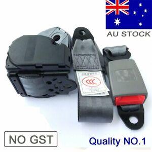 Gray 3point Sash Seat Belts Seatbelts Strap Adjustable Shoulder Front Rear Grey