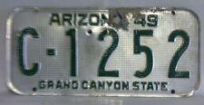1949 ARIZONA License Plate (C-1252)