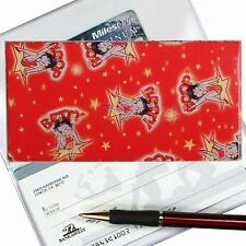 Lenticular Cartoon Betty Boop Rare Vintage Red Checkbook Cover - #BB-102-CBC#